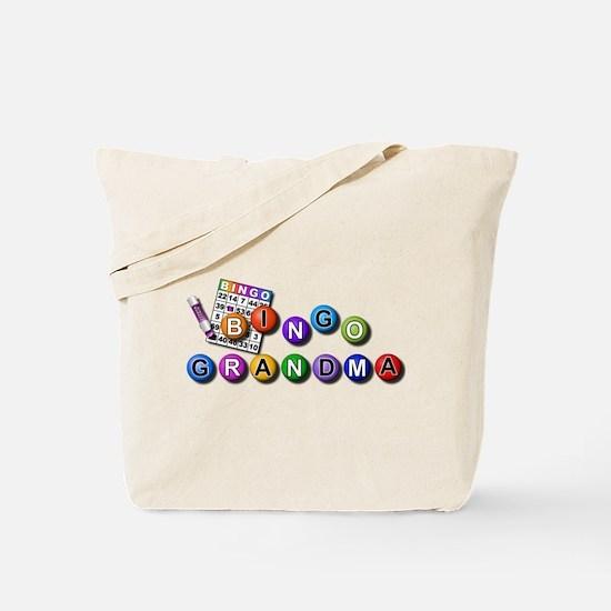 Bingo playing grandma Tote Bag