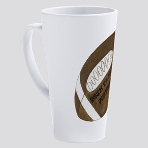 Personalized Football 17 oz Latte Mug