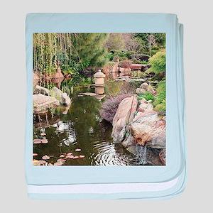 Himeji Japanese garden, Adelaide 6 baby blanket