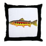 Golden Trout Throw Pillow