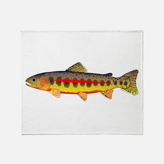 Golden Trout Throw Blanket