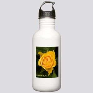 I Love You With Yellow Rose Water Bottle