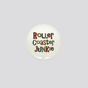 Roller Coaster Junkie Fanatic Mini Button
