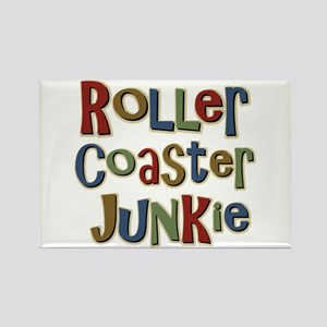 Roller Coaster Junkie Fanatic Rectangle Magnet