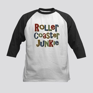 Roller Coaster Junkie Fanatic Kids Baseball Jersey