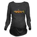Golden Trout Long Sleeve Maternity T-Shirt