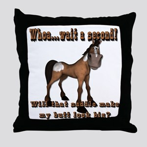 Whoa...Wait A Second Throw Pillow