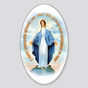 Miraculous Medal Sticker (Oval)