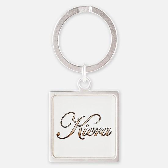 Gold Kiera Square Keychain