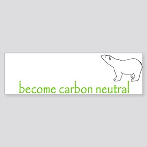 carbon neutral polar bear Bumper Sticker