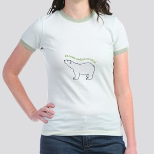 carbon neutral polar bear Jr. Ringer T-Shirt