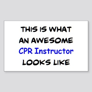 awesome cpr instructor Sticker (Rectangle)