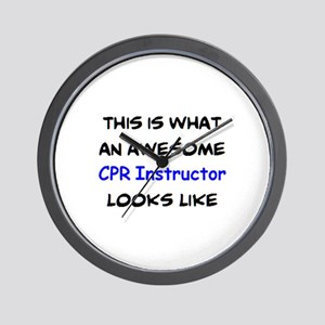 awesome cpr instructor Wall Clock