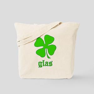 Glas: Irish Gaelic green gift Tote Bag