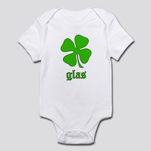 Glas: Irish Gaelic green gift Infant Bodysuit