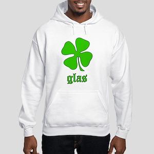 Glas: Irish Gaelic green gift Hooded Sweatshirt