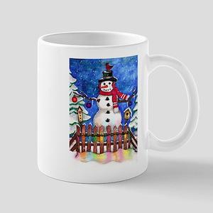 Garden Snowman Mugs