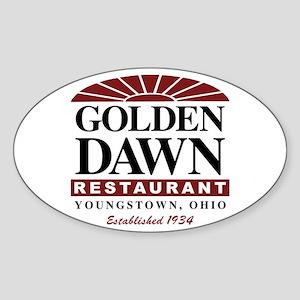 Golden Dawn Oval Sticker