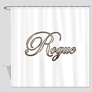 Gold Rogue Shower Curtain