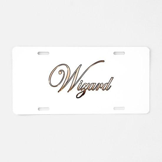 Gold Wizard Aluminum License Plate