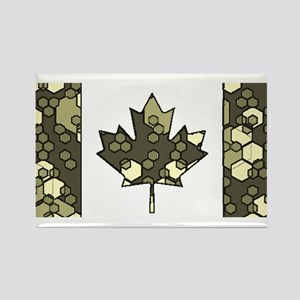 Canadian Flag Digital Rain Camo Pattern Ba Magnets