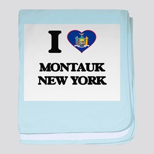I love Montauk New York baby blanket