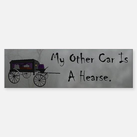 Hearse Bumper Bumper Bumper Sticker