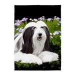 Bearded Collie (Painting) 5'x7'Area Rug