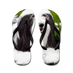 Bearded Collie (Painting) Flip Flops