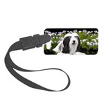 Bearded Collie (Painting) Small Luggage Tag