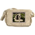 Bearded Collie (Painting) Messenger Bag