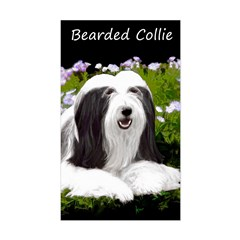 Bearded Collie (Painting) Sticker (Rectangle)