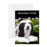 Bearded Collie (Painting) Greeting Card