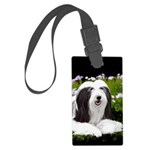 Bearded Collie (Painting) Large Luggage Tag