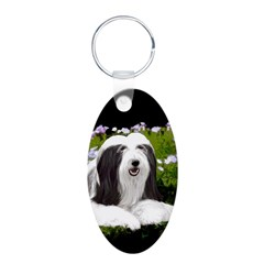 Bearded Collie (Painting) Keychains