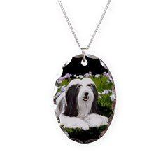 Bearded Collie (Painting) Necklace