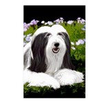 Bearded Collie (Painting) Postcards (Package of 8)