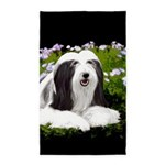Bearded Collie (Painting) Area Rug