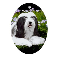 Bearded Collie (Painting) Oval Ornament