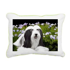 Bearded Collie (Painting Rectangular Canvas Pillow