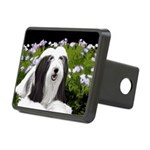 Bearded Collie (Painting) Rectangular Hitch Cover