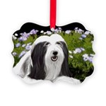 Bearded Collie (Painting) Picture Ornament