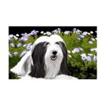 Bearded Collie (Painting) 35x21 Wall Decal