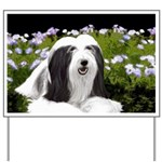 Bearded Collie (Painting) Yard Sign