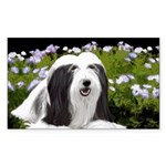 Bearded Collie (Painting Sticker (Rectangle 10 pk)