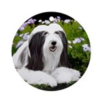 Bearded Collie (Painting) Round Ornament