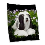 Bearded Collie (Painting) Burlap Throw Pillow