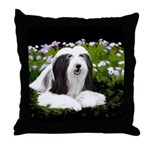 Bearded Collie (Painting) Throw Pillow