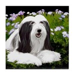 Bearded Collie (Painting) Tile Coaster