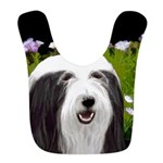 Bearded Collie (Painting) Polyester Baby Bib